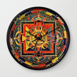 Buddhist Mandala Amitayus Buddha Amitabha Wall Clock