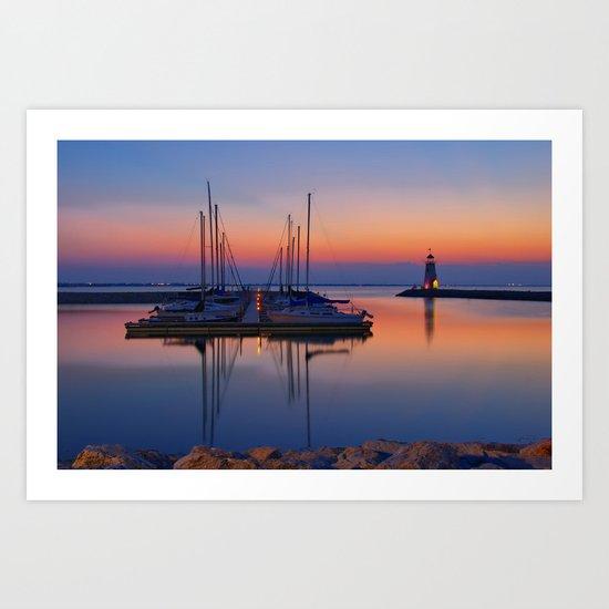 Lake Hefner Sunset Art Print