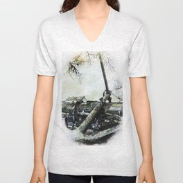 Cottage by the Anchor. Unisex V-Neck