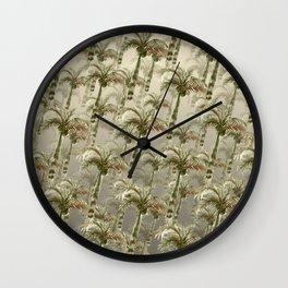 Palm Trees - Earthy Tones Wall Clock