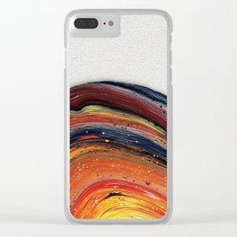Vibrant Acrylic Pour Painting Clear iPhone Case