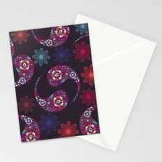 Dark Paisley print Stationery Cards