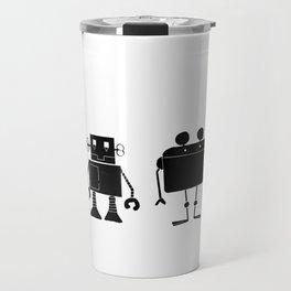 Four Robots Travel Mug