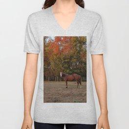 Where is My Horse Hay? Unisex V-Neck