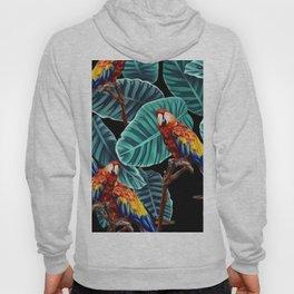tropical leaves macaw pattern 2 Hoody