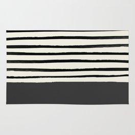 Charcoal Gray x Stripes Rug