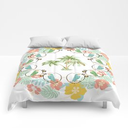 Cool Tropical Toucan Floral Comforters