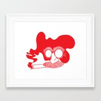 marx Framed Art Prints featuring Groucho Marx by Stephanie Keir