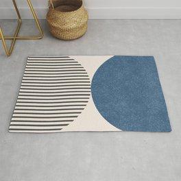 Semicircle Stripes - Blue Rug