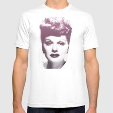 Lucille Ball MEDIUM Mens Fitted Tee White