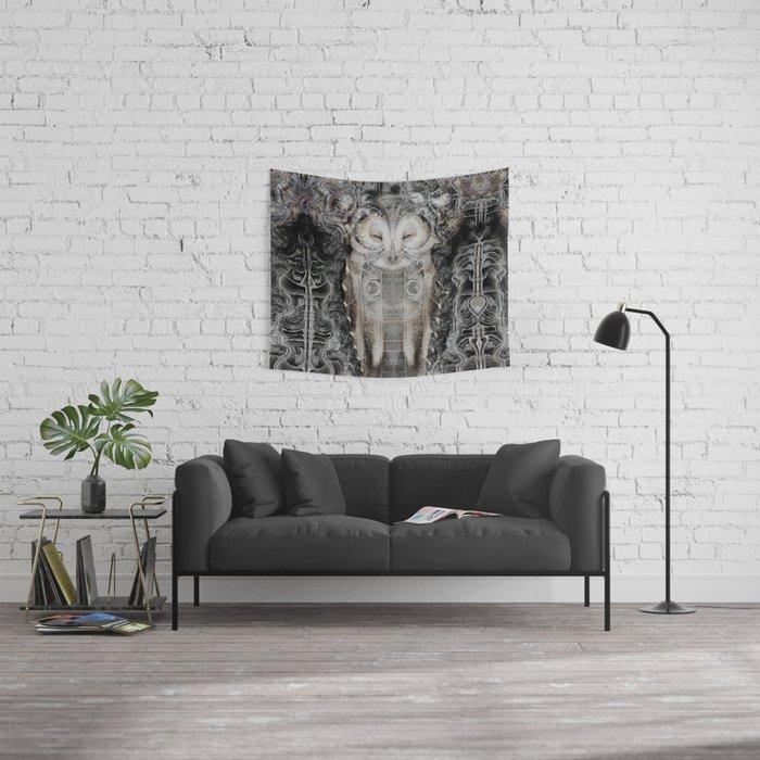 Owl Wisdom Wall Tapestry