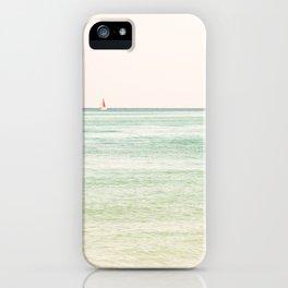 Nautical Red Sailboat iPhone Case