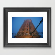 Early Morning Hindu Temple (Mysore & India & Travel)  Framed Art Print