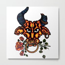 A BULL -Bull symbolizes strength Metal Print