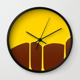 Custard And Chocolate Pudding Wall Clock