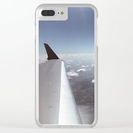 Marshmallow Clouds IV Clear iPhone Case