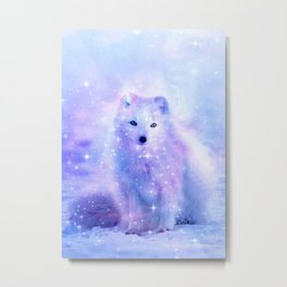 Arctic iceland fox Metal Print