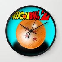 dragonball Wall Clocks featuring Dragonball Z, 4 star by Metalot
