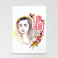 allison argent Stationery Cards featuring Queen Argent by Grit Spit and a Whole Lot of Duct tape