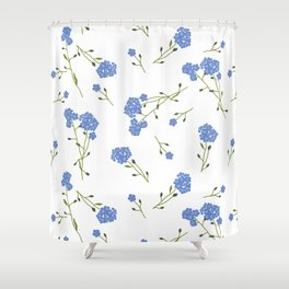 Forget me not II Shower Curtain