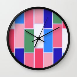 Colored Tiles Version 2 Wall Clock
