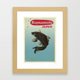 Kumamoto Japan vintage travel poster Framed Art Print