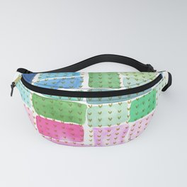 Abstract with holden hearts Fanny Pack