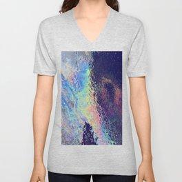 Trippy oil in water rainbow Unisex V-Neck