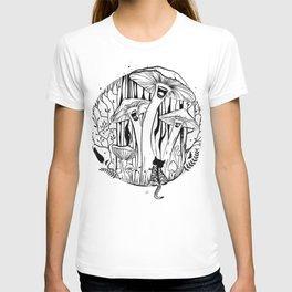 The Singing Mushrooms & The Zebra Cat T-shirt