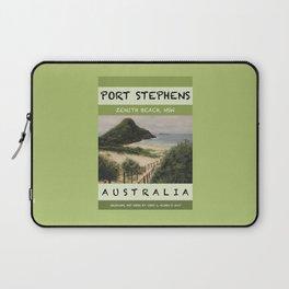 Travel Poster Zenith Beach Art Print Laptop Sleeve