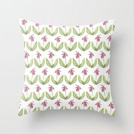Lady Slipper Throw Pillow