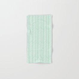 Herringbone Mint Hand & Bath Towel