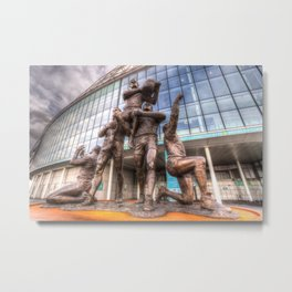 Rugby League Legends statue Wembley stadium Metal Print