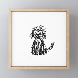 Doggy day Framed Mini Art Print