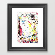 They Enjoy the Color Attack! Framed Art Print