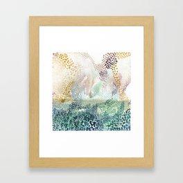 Flower burst; gold Framed Art Print