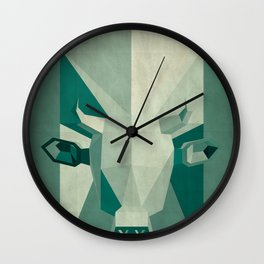 Picasso style abstract cow Wall Clock