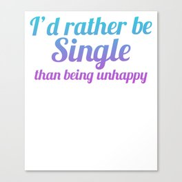 Single Divorced, Separated free spell Canvas Print