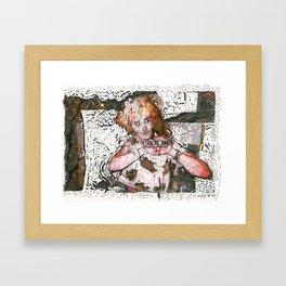 Barfday! Framed Art Print