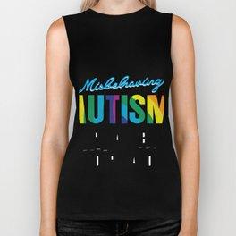Please Understanding Autism Awareness Gifts Biker Tank