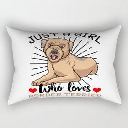 Border Terrier Dog Owner Rectangular Pillow