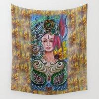 chakra Wall Tapestries featuring Chakra Mandla by Harsh Malik