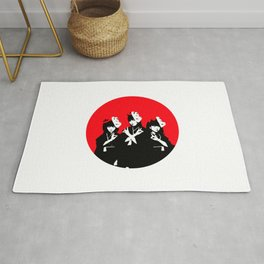 Japanese Metal Girls Rug
