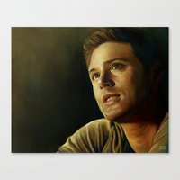 winchester Canvas Prints featuring Dean Winchester by Slugette