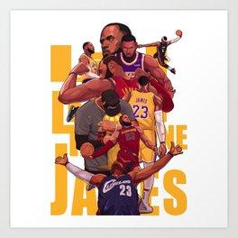 King james of Champion Art Print