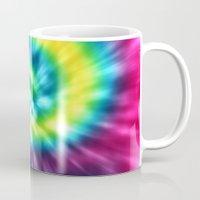 tie dye Mugs featuring Tie Dye by Patterns of Life
