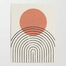 Orange Sun Mid-Century Full Poster