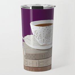 Teacup, Jane Austen, & Charlotte Brontë Books Travel Mug