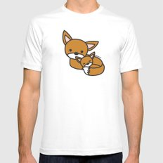 Sweet Fox Mens Fitted Tee White SMALL