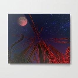 cornfield with moon and stars Metal Print